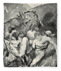 Beowulf Print Fleece Blanket