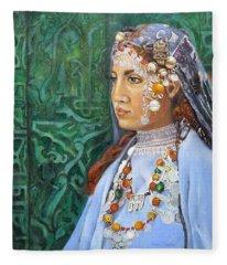 Berber Woman Fleece Blanket
