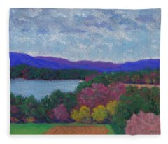 Berkshires In Late October Fleece Blanket