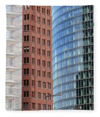 Berlin Buildings Detail Fleece Blanket