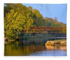 Berry Creek Bridge Fleece Blanket