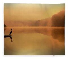 Beside Still Waters Fleece Blanket
