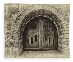 Bethlehem Doorway Antiqued Fleece Blanket