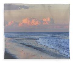 Better Days Ahead Seaside Heights Nj Fleece Blanket