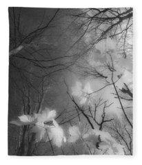 Between Black And White-02 Fleece Blanket