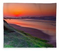 Between Day And Night Fleece Blanket