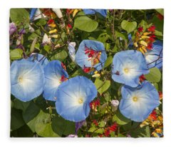 Bhubing Palace Gardens Morning Glory Dthcm0433 Fleece Blanket