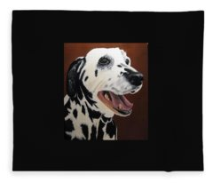 Bianca Rob's Dalmatian Fleece Blanket