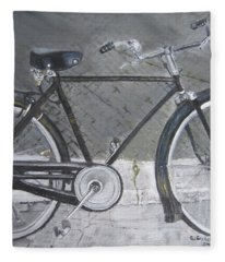 Bicycle In Rome Fleece Blanket