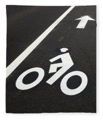 Bicycle Lane Fleece Blanket