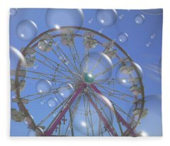 Big B Bubble Ferris Wheel Fleece Blanket