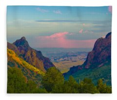 Big Bend Texas From The Chisos Mountain Lodge Fleece Blanket