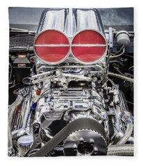Big Big Block V8 Motor Fleece Blanket