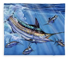 Big Blue And Tuna Fleece Blanket