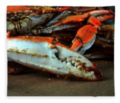 Big Crab Claw Fleece Blanket