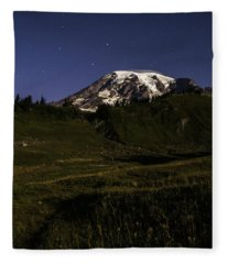 Big Dipper Over Mt Rainier Fleece Blanket