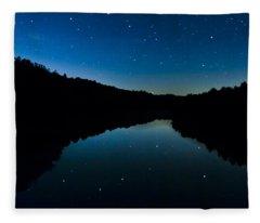 Big Dipper Reflection Fleece Blanket