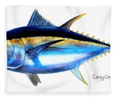 Bluefin Tuna Fleece Blankets