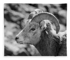 Big Horn Sheep Profile Fleece Blanket
