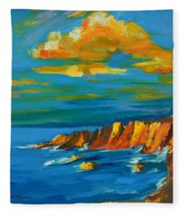 Big Sur At The West Coast Of California Fleece Blanket