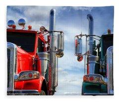 Big Trucks Fleece Blanket