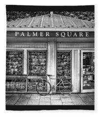 Bike At Palmer Square Book Store In Princeton Fleece Blanket