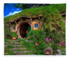 Bilbo Baggin's House 5 Fleece Blanket