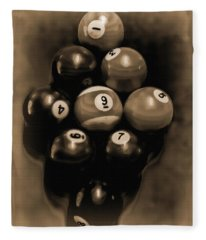 Billiards Art - Your Break - Bw Opal Fleece Blanket