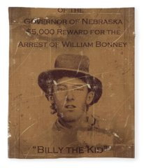 Billy The Kid Wanted Poster Fleece Blanket