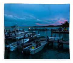 Bimini Big Game Club Docks After Sundown Fleece Blanket