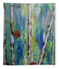 Birch - Lt. Green 4 Fleece Blanket