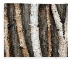 Birch Trunks Fleece Blanket