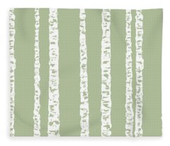 Birches Dii Fleece Blanket