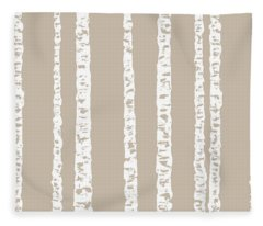 Birches Diii Fleece Blanket