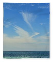 Bird Cloud Fleece Blanket