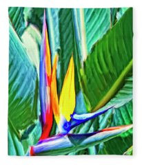 Bird Of Paradise Fleece Blanket