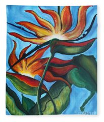 Bird Of Paradise Fleece Blanket