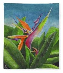 Hawaiian Bird Of Paradise Fleece Blanket