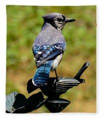 Bird On A Bird Fleece Blanket