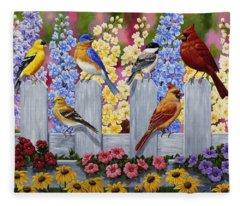 Bird Painting - Spring Garden Party Fleece Blanket