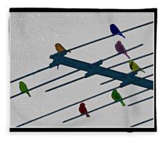 Bird Reception Fleece Blanket