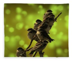 Birds Of A Feather Fleece Blanket