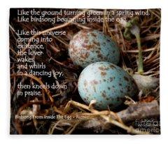 Birdsong From Inside The Egg Fleece Blanket