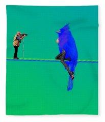Birdwatcher Fleece Blanket