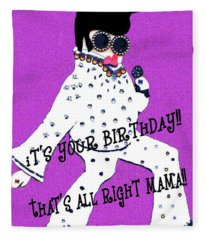 Birthday Mama Fleece Blanket