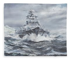 Bismarck Off Greenland Coast  Fleece Blanket