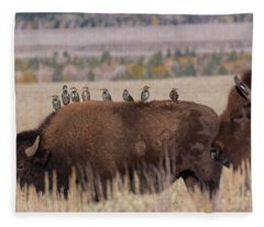 Bison And Buddies Fleece Blanket