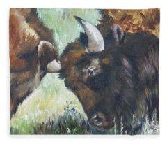 Bison Brawl Fleece Blanket