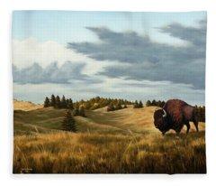 Bison  Wind Cave Park  South Dakota Fleece Blanket