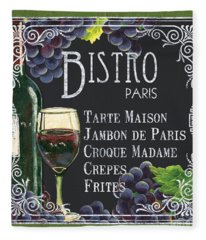 Bistro Paris Fleece Blanket